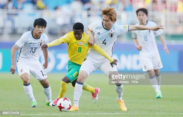 Mbatha Sibongakonke of South Africa and Kou Itakura of Japan during the FIFA U20 World Cup Korea Republic 2017 group D match between South Africa and...