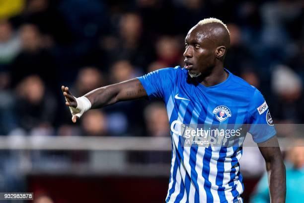 Mbaye Diagne of Kasimpasa AS during the Turkish Spor Toto Super Lig match between Kasimpasa AS and Antalyaspor AS at the Recep Tayyip Erdoganstadion...