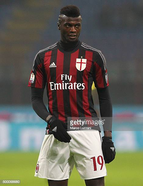 Mbaye Niang of AC Milan looks on during the TIM Cup match between AC Milan and FC Crotone at Stadio Giuseppe Meazza on December 1 2015 in Milan Italy