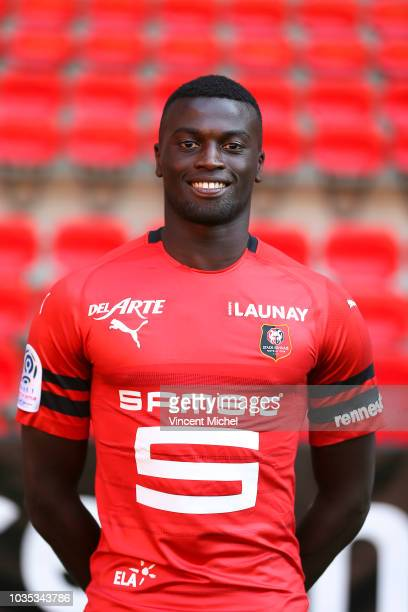 Mbaye Niang of Rennes during the Rennes Photoshooting on September 17 2018 in Rennes France