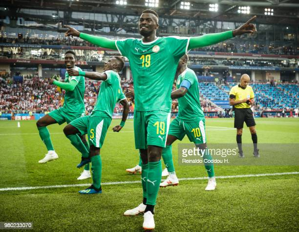 Mbaye Niang of Senegal celebrates with teammates after scoring the second goal of his team during the 2018 FIFA World Cup Russia group H match...