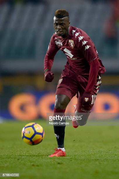 MBaye Niang of Torino FC in action during the Serie A football match between Torino FC and AC ChievoVerona The match ended in a 11 tie