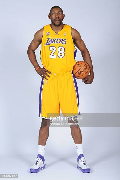 00f7bc64ae2 Mbenga of the Los Angeles Lakers poses for a portrait prior to the game  against the