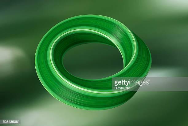 Möbius (mobius) infinity curve with leaf texture