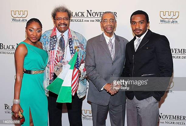 Mbong Amata Don King Rep Bobby Rush and Enyinna Nwigwe attend the 'Black November' film screening at The Library of Congress on February 29 2012 in...