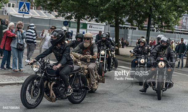 Mc departure during Mods vs Rockers an event with motorcycles and Vespas mostly from the 1950s and early 60s Event created by mods and rockers in...