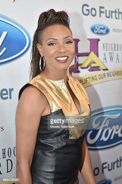 Mc Lyte attends the 2015 Ford Neighborhood Awards Hosted By Steve Harvey at Phillips Arena on August 8 2015 in Atlanta Georgia