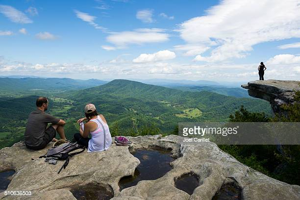 mcafee knob on catawba mountain, appalachian trail, virginia - appalachian trail stock pictures, royalty-free photos & images