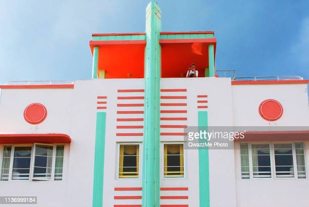 mcalpin hotel facade - art deco stock pictures, royalty-free photos & images