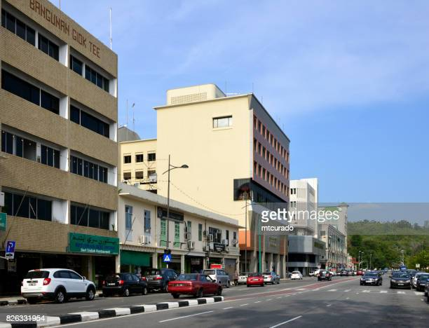 mcarthur street, bandar seri begawan, brunei darussalam - bandar seri begawan stock photos and pictures