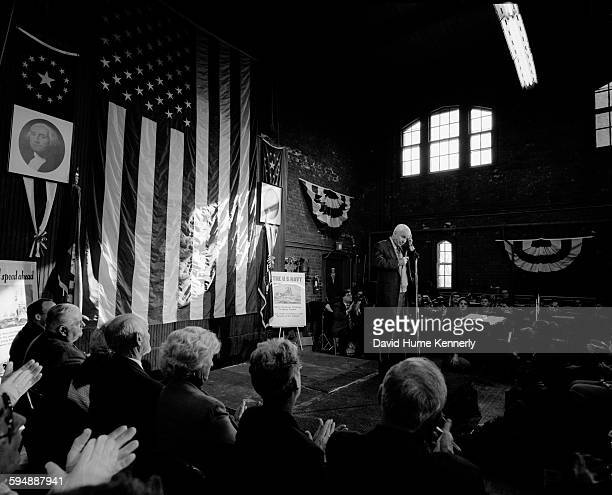 McCain town hall meeting at a National Guard armory January 18 2000 in East Greenwhich Rhode Island