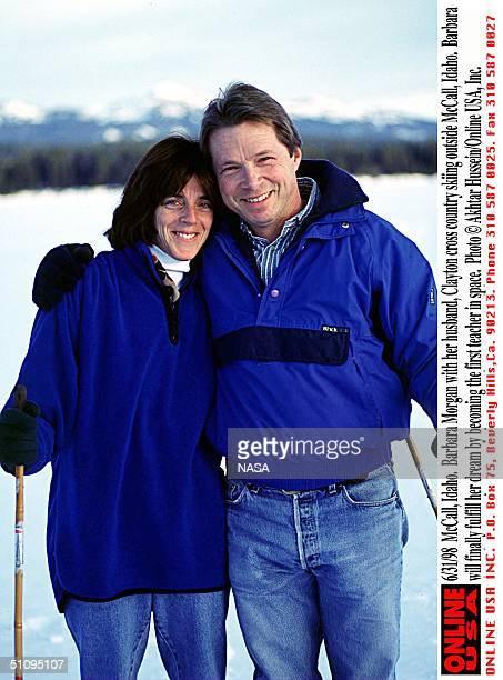 Mccall Idaho Barbara Morgan With Her Husband Clayton Cross Country Skiing Outside Mccall Idaho Babara Will Finally Fulfill Her Dream By Becoming The...