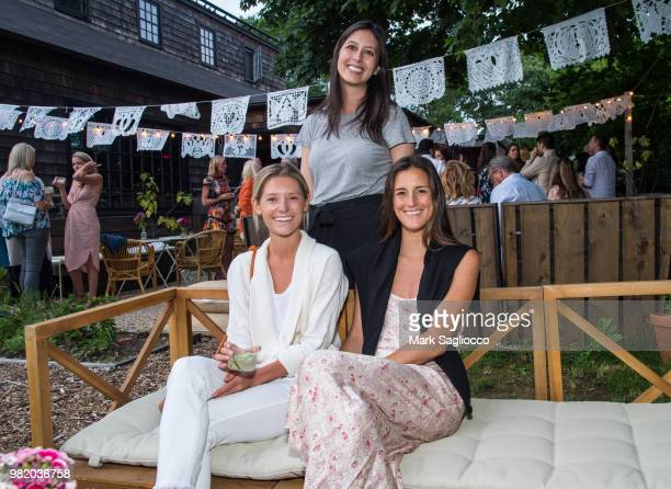 McCall Miles Max Bonrest and Katie Winter attend Homepolish x Hamptons Magazine VIP Dinner With James Peyton at Salt Drift Farm on June 22 2018 in...