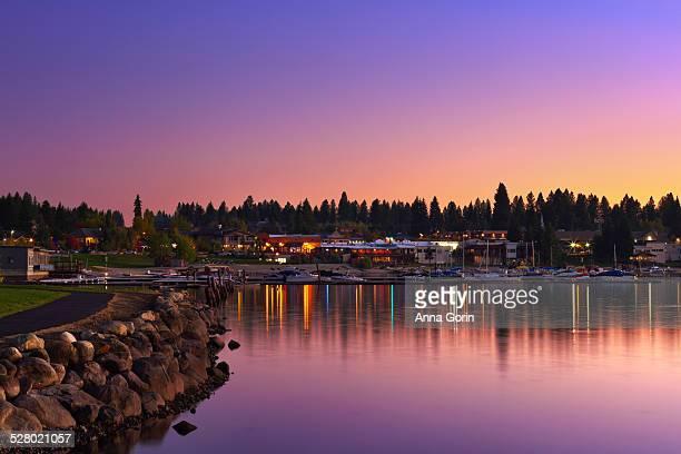McCall & Payette Lake, Idaho, at sunset