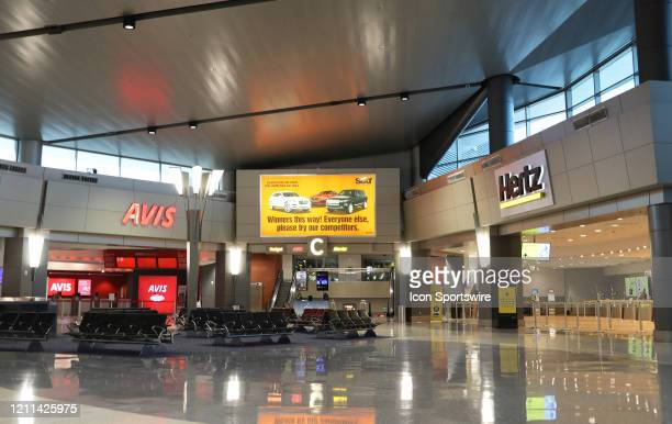 McCarran Airport RentACar Center Las Vegas usually a mass of people day and night checkingin and scrambling for car rentals now empty and not a soul...