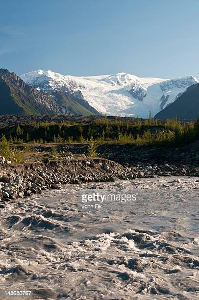 McCarthy Kennicott River and Root Glacier.