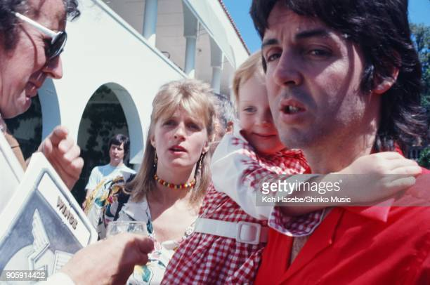 McCartney family at garden party in Perth November 21975 Perth AUnited Statestralia Paul McCartney Linda McCartney