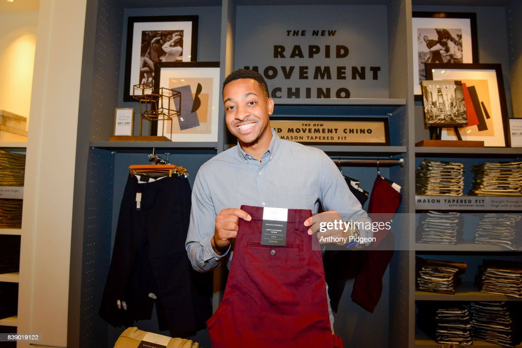 C.J. McCollum And Banana Republic Celebrate Partnership And Launch New Rapid Movement Chino