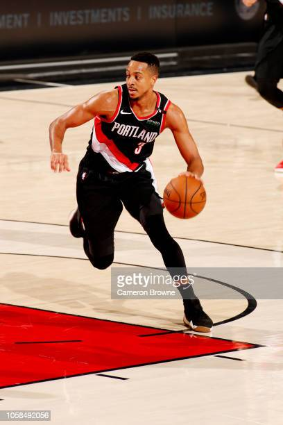 McCollum handles the ball during the game against the Milwaukee Bucks on November 6 2018 at the Moda Center in Portland Oregon NOTE TO USER User...