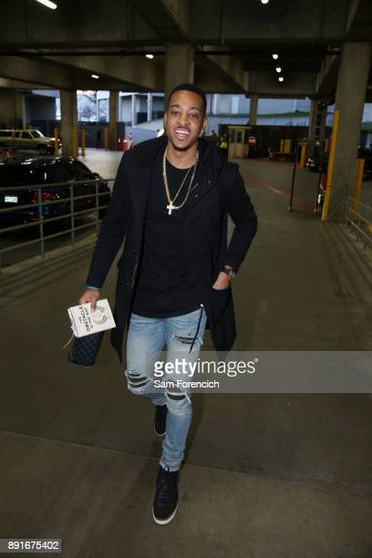 McCollum of the Portland Trail Blazers arrives before the game against the Houston Rockets on December 9 2017 at the Moda Center in Portland Oregon...
