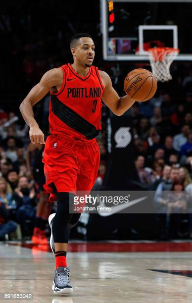 J McCollum of the Portland Trail Blazers in action against the Houston Rockets at Moda Center on December 9 2017 in Portland Oregon NOTE TO USER User...
