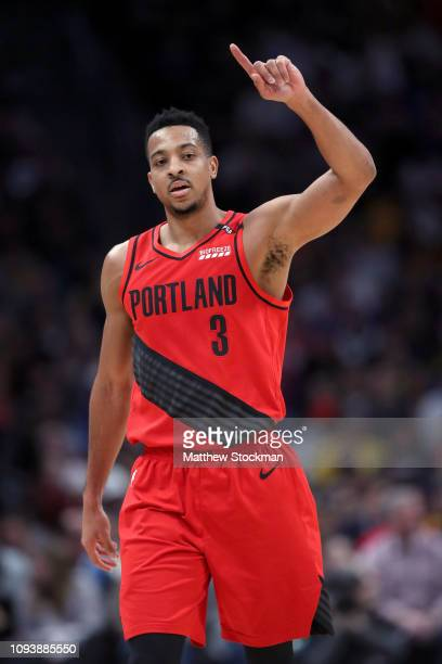 McCollum of the Portland Trail Blazers plays the Denver Nuggets at the Pepsi Center on January 13, 2019 in Denver, Colorado. NOTE TO USER: User...