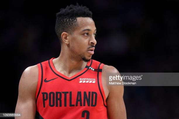 J McCollum of the Portland Trail Blazers plays the Denver Nuggets at the Pepsi Center on January 13 2019 in Denver Colorado NOTE TO USER User...
