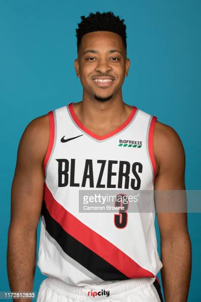 McCollum of the Portland Trail Blazers poses for a head shot during media day on September 30, 2019 at the Veterans Memorial Coliseum in Portland,...