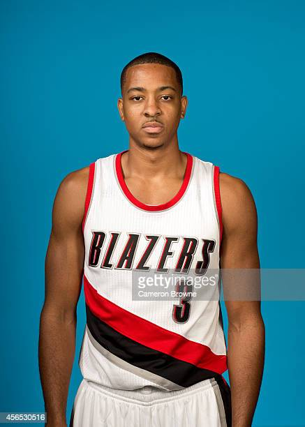 J McCollum of the Portland Trail Blazers poses for a photo during Media Day on September 29 2014 at the Moda Center Arena in Portland Oregon NOTE TO...