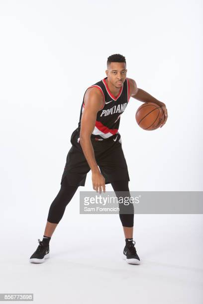 McCollum of the Portland Trail Blazers poses for a portrait during the 201718 NBA Media Day on September 25 2015 at the Moda Center in Portland...
