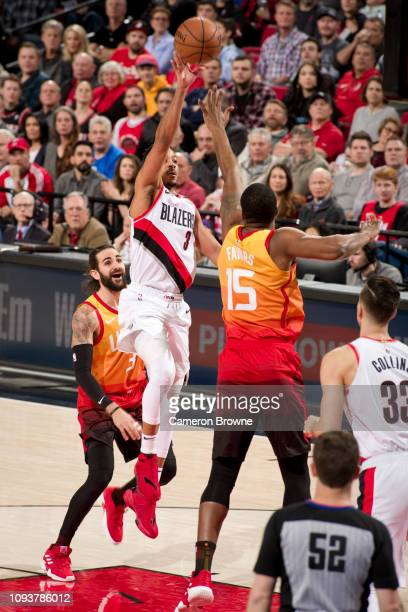 McCollum of the Portland Trail Blazers shoots the ball against the Utah Jazz on January 30 2018 at the Moda Center in Portland Oregon NOTE TO USER...