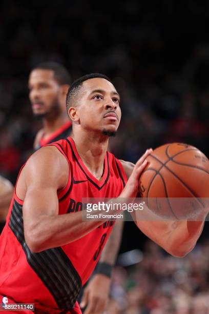 McCollum of the Portland Trail Blazers shoots the ball against the Houston Rockets on December 9 2017 at the Moda Center in Portland Oregon NOTE TO...