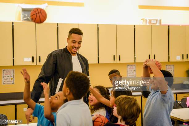 McCollum teams with American Express to surprise Boys & Girls Clubs of Portland on November 26, 2018 in Portland, Oregon.