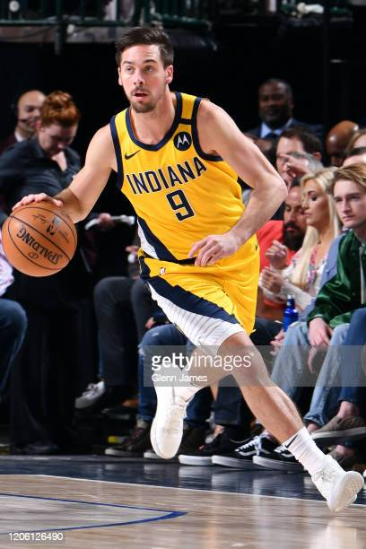 McConnell of the Indiana Pacers handles the ball against the Dallas Mavericks on March 8, 2020 at the American Airlines Center in Dallas, Texas. NOTE...