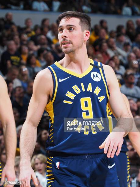 McConnell of the Indiana Pacers looks on during the game against the New York Knicks on February 1, 2020 at Bankers Life Fieldhouse in Indianapolis,...