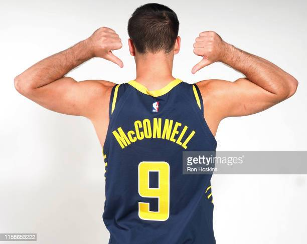 McConnell of the Indiana Pacers poses for a portrait at the Indiana PacersTraining Facility on July 29 in Indianapolis Indiana NOTE TO USER User...