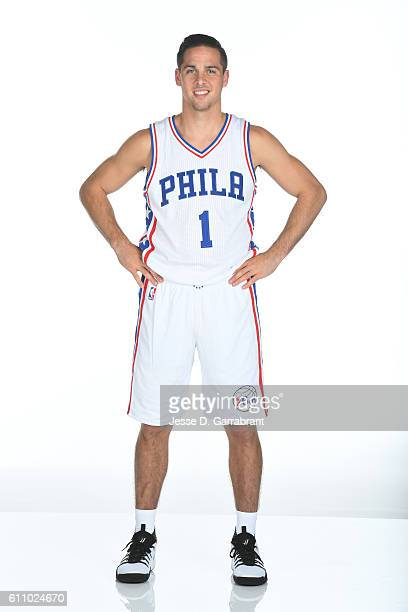 J McConnell of the Philadelphia 76ers poses for a portrait at the Philadelphia 76ers Training Complex during NBA media day on September 262016 in...