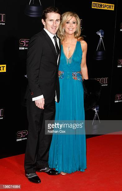 McCoy and wife Chanelle McCoy attend the awards ceremony for BBC Sports Personality of the Year 2011 at Media City UK on December 22, 2011 in...