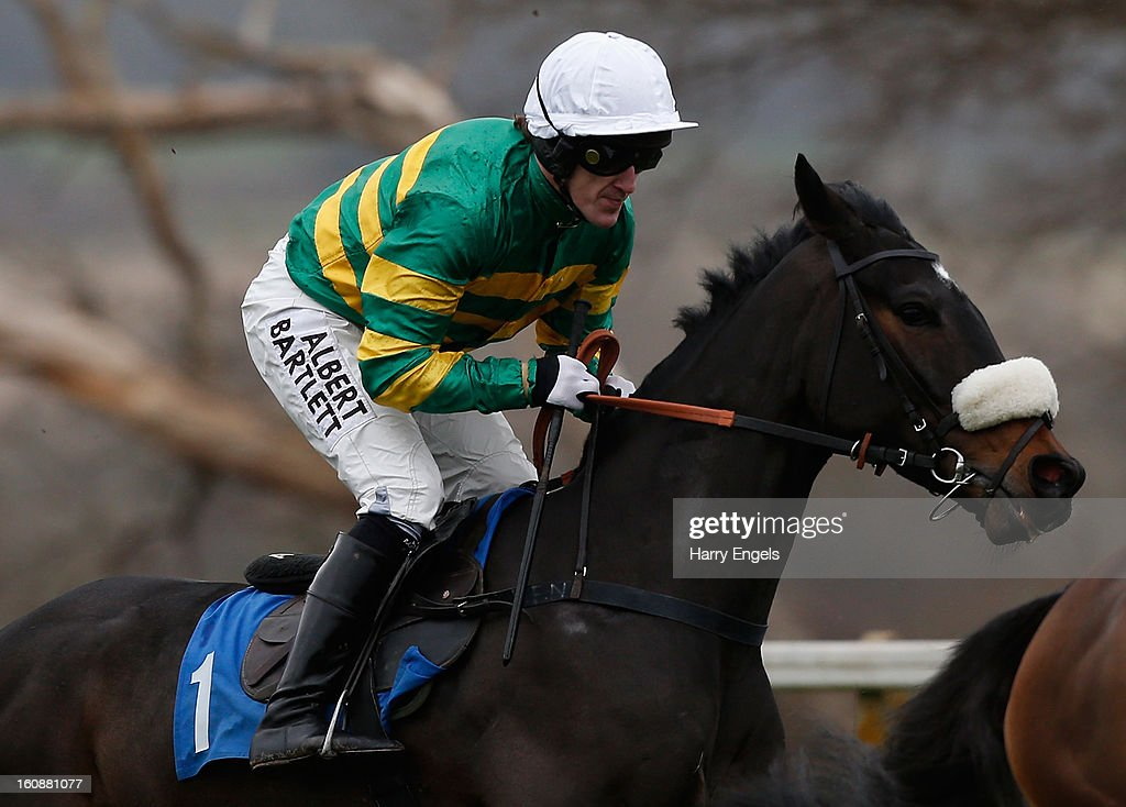 A.P. McCoy riding Mr Mole races in the Bathwick Tyres Novices' Handicap Hurdle Race at Taunton Racecourse on February 7, 2013 in Taunton, England.