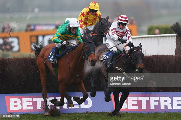 P McCoy riding Ned Buntline clears the last eventually finishing fourth in his last ever ride in the APMcCoy Grand Annual Handicap Steeplechase race...