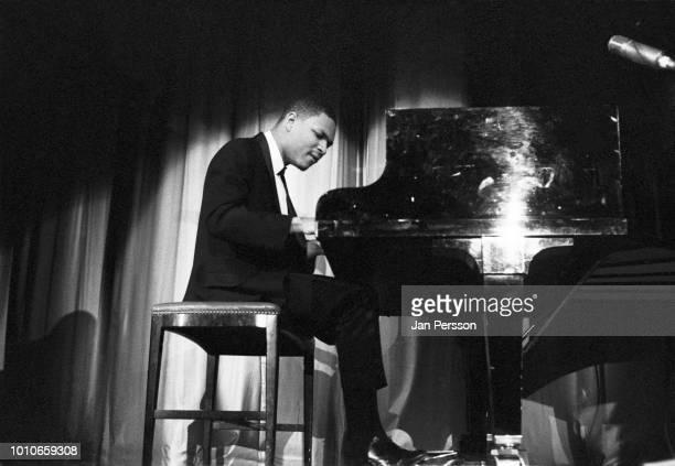 McCoy Tyner member of John Coltrane Quartet performing Copenhagen 1962. American jazz pianist and composer.