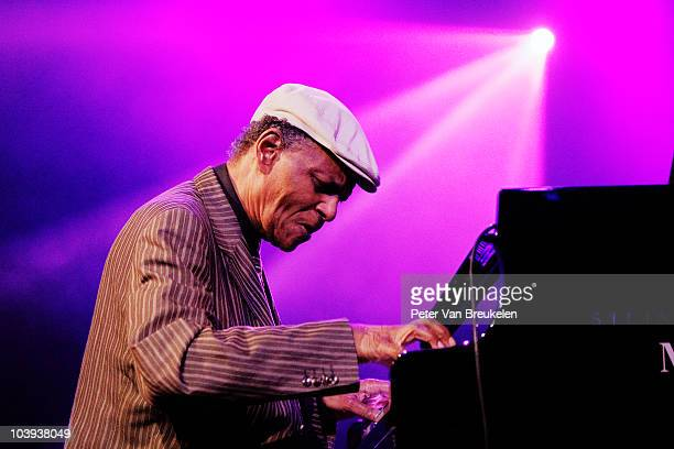 McCoy Tyner performs during Middelheim Jazz Festival at Park Den Brandt on August 12 2010 in Antwerpen Belgium