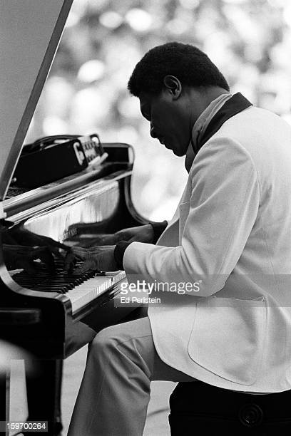 McCoy Tyner performs during the Berkeley Jazz Festival at the Greek Theatre in May 1980 in Berkeley California