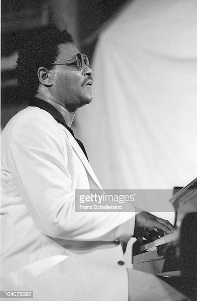 McCoy Tyner performs on stage at Lichtboei on July 18 1985 in Loosdrecht, Netherlands.
