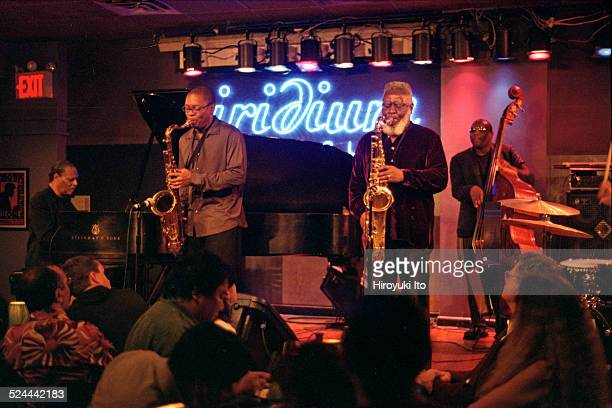 McCoy Tyner Quintet performing at Iridium on Tuesday night May 11 2004This imageFrom left McCoy Tyner Ravi Coltrane Pharoah Sanders and Charnett...