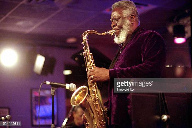 McCoy Tyner Quintet performing at Iridium on Tuesday night May 11 2004This imagePharoah Sanders