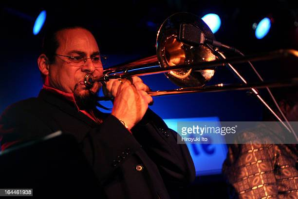McCoy Tyner Septet performing at the Blue Note on Monday night June 5 2006This imageSteve Turre on trombone