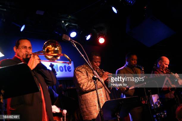 McCoy Tyner Septet performing at the Blue Note on Monday night June 5 2006This imageFrom left Steve Turre Wallace Roney Donald Harrison and Dave...