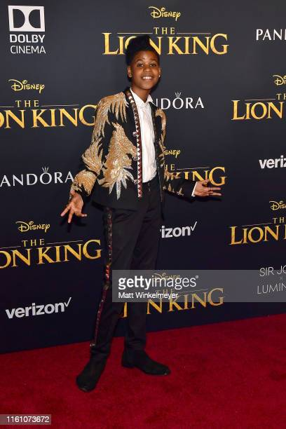 """McCrary attends the premiere of Disney's """"The Lion King"""" at Dolby Theatre on July 09, 2019 in Hollywood, California."""
