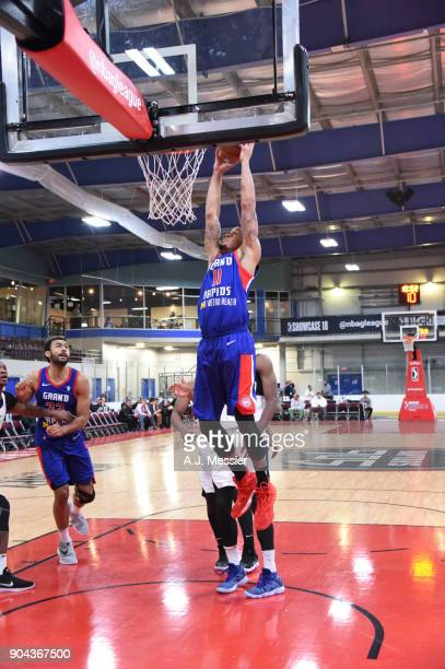 McDaniels of the Grand Rapids Drive shoots the ball against the Iowa Wolves NBA G League Showcase Game 20 between the Grand Rapids Drive and the Iowa...